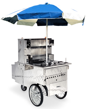"Model 510NG | ""Sidewalker"" Mobile Hot Dog Cart"