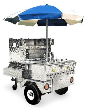 "Model 525NG | ""Outdoorsman"" Over The Road Hot Dog Cart"