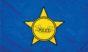 Police Department First Responder Flag Graphic
