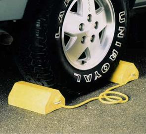 Recycled Plastic Wheel Chocks | Parking