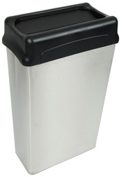 Model 70HTSS | Stainless Steel Trash Can (Stainless Steel/Black)