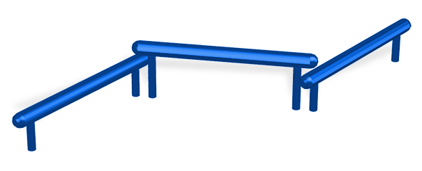 Model 78000024 | Triple Jump Bars | Fitness Equipment