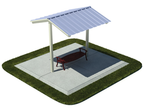 Model 8410P-SSM | Outdoor Mini-Shelter Shade Structure