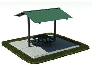 Model 8412P-SSM | Outdoor Mini-Shelter Shade Structure