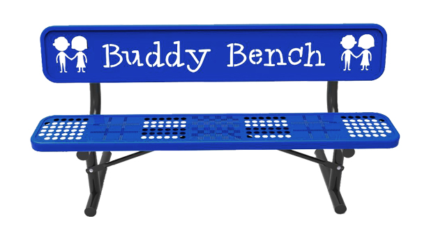 Buddy Bench with Game Seat