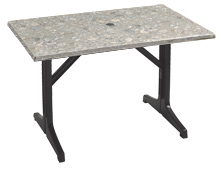"Model 99851302 & Model 55618302 | 48"" x 32"" Table Top with Resin Lateral Base"