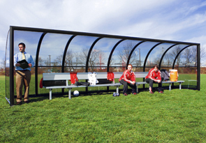 Model 9B1001 | Elite Team Shelter with 21' Aluminum Bench