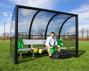 Model 9B1101 | Elite Referee Shelter with 9 Ft. Aluminum Bench