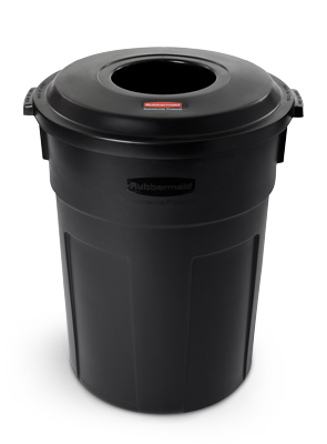 Model 9W14 | Landmark Series® 32 Gallon Trash Container with Lid for Gas Station/Store Front
