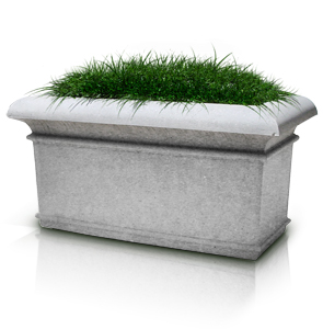 Model A-72X36X36 | Rectangular Concrete Planters (Dove Gray | LSB Finish)