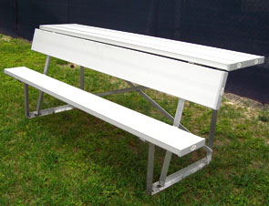 Model AB6WBRS-S | 6 Foot Length Team Bench with Backrest