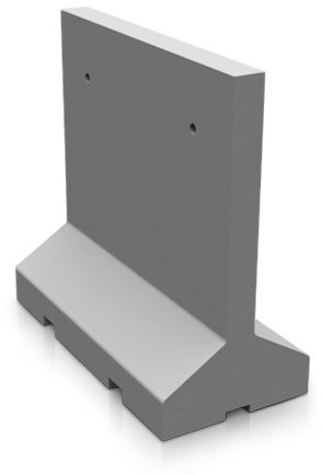 Model AB96 | Concrete Traffic Barrier (LSB Dove Gray)