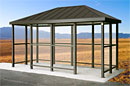 Hip Roof Bus Shelters