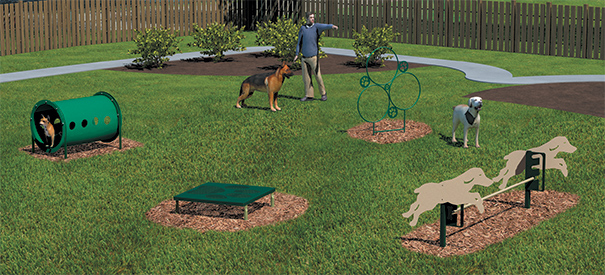 Model BARK-NVKIT | Novice Course Kit | Dog Park Amenities