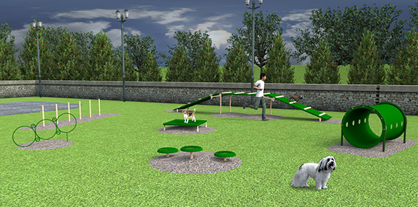 Model BARK-SMAKIT | Small Dog Advanced Course Kit | Dog Park Amenities
