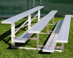 Model BLR-001 | Basic Bleacher | 3 Row Bleacher, Single Footboards