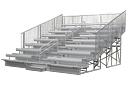 8 Row Ultra Aluminum Bleachers with Backrests