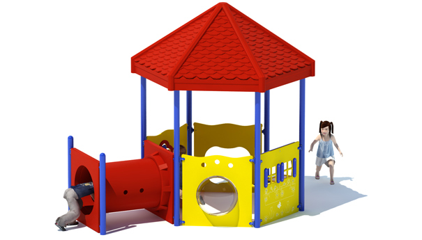 Zippy Station Commercial Playground Set
