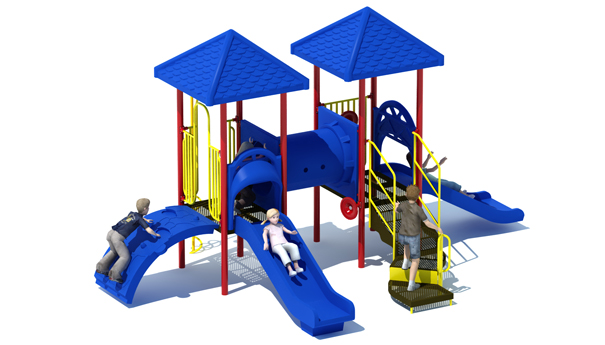 Twin Castles Playground Structure