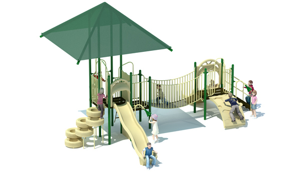 Canopy Canyon Commercial Playground Structure