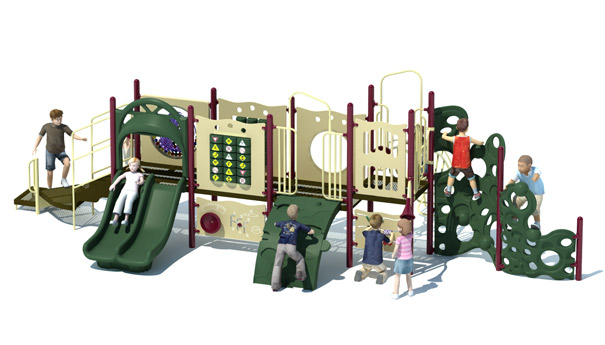 Zoomy Street Commercial Playground Structure