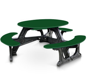 Model BOT-01 | Bodega Plastic Table with Recycled Plastic Frame (Green/Black)