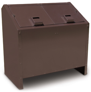 Model BPLR2 | Double Unit Animal Proof Litter Receptacle (Brown)