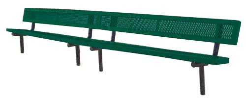 Model R15WB-I | 15' Thermoplastic Players Benches (Green/Black)