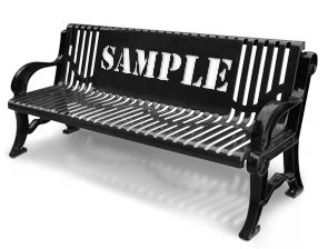 Model C6WCB-P | Contemporary Style Bench with Customized Back (Black)