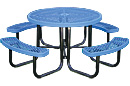 Leisure Series Expanded Steel Round Picnic Table