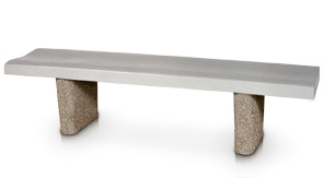 Model CB2 | 6' Concrete Bench (Dove Gray)