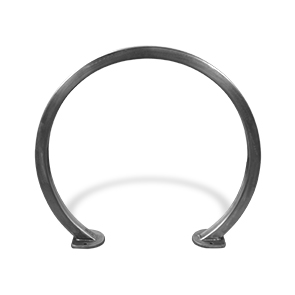 Model CBBR-2CS-SS | Stainless Steel Circular Bike Rack