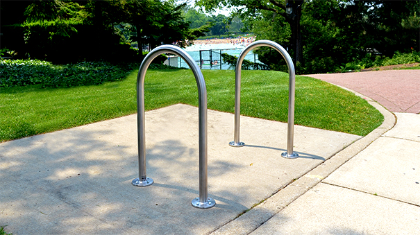 Model CBBR-2UR-SS | Stainless Steel U Bike Rack