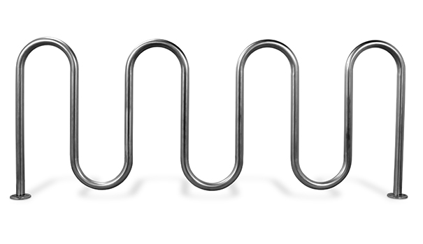 Model CBBR-9UR-SS | 7 Loop Stainless Steel Bike Rack