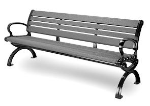 Fabulous Aluminum Park Bench With Contempo Crinkle Finish Belson Creativecarmelina Interior Chair Design Creativecarmelinacom