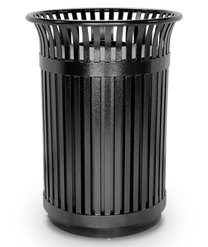 Commercial Steel Flare Top Trash Receptacle