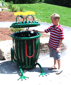 Model CCF34 | Creature Can Frog Trash Receptacle (Forest Green)