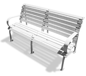 Model CGP-60-A | Aluminum Bench | Capitol Style