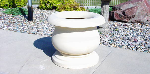 Model CN36X30-CUS2 | Campanite Series Concrete Planters (White | LSB Finish)
