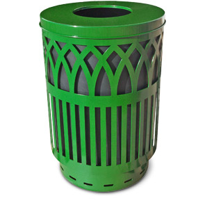 Model COV40P-FT | Covington Classic Collection Trash Receptacles (Green)