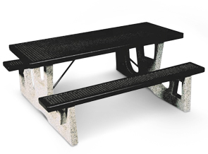 CPT6, 6 ft Concrete & Thermoplastic Picnic Table