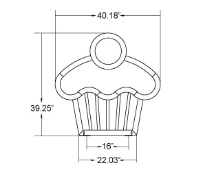 Cupcake Bike Rack | Quick Dimensions
