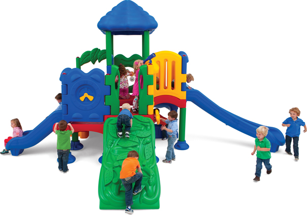 Model DC-5XLG-0210 | Discovery Center 5 Playground Structure