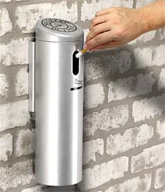 Model DC-711207 | Wall Mounted Cigarette Receptacles (Silver)