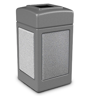 Model DC-720311 | 42 Gallon Trash Receptacle (Gray/Ashtone)