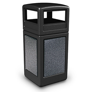 Model DC-72041399 | Dome Lid Waste Container (Black/Pepperstone)