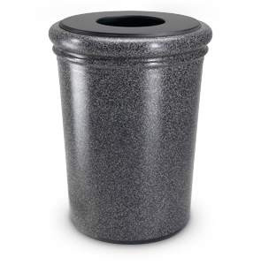 DC-720919 | 50 Gallon StoneTec® Round Waste Containers (Pepper Stone)