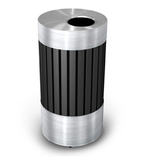 Model DC-727543 | ArchTec Series Riverview Trash Receptacle | Flat Top
