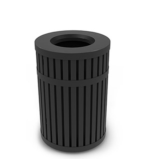 Model DC-728001 | ArchTec Series Riverview Trash Receptacle | Flat Top