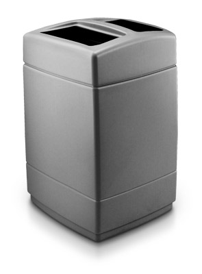 Model DC-732824 | 55 Gallon Square Dual Waste Container (Charcoal Gray)